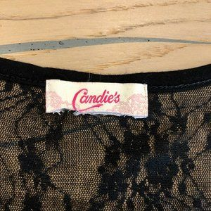 Candie's Tops - ✨2 for $10✨Sheer Peplum Tank Top